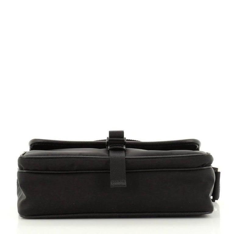 Prada Front Pocket Camera Bag Tessuto with Saffiano Medium For Sale 1
