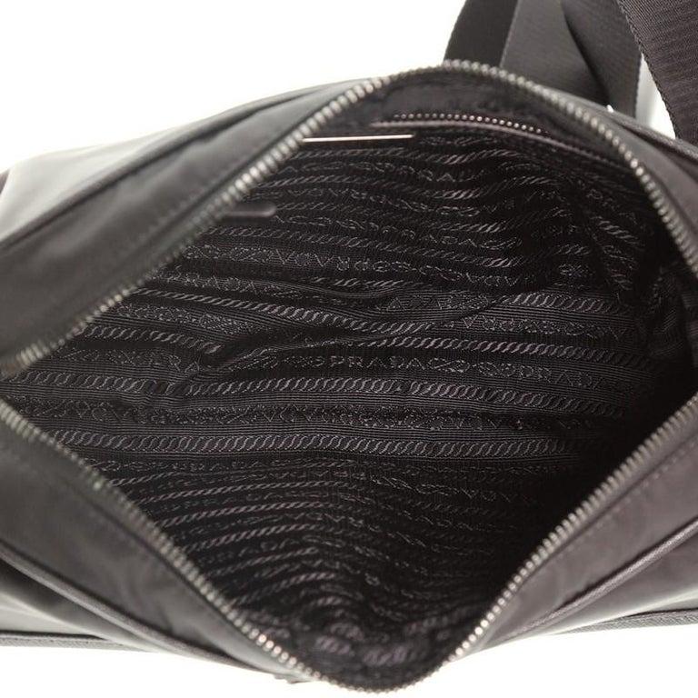 Prada Front Pocket Camera Bag Tessuto with Saffiano Medium For Sale 2