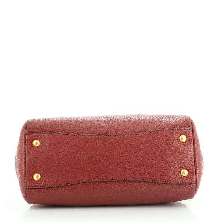 Women's or Men's Prada Front Pocket Convertible Tote Vitello Daino Medium For Sale