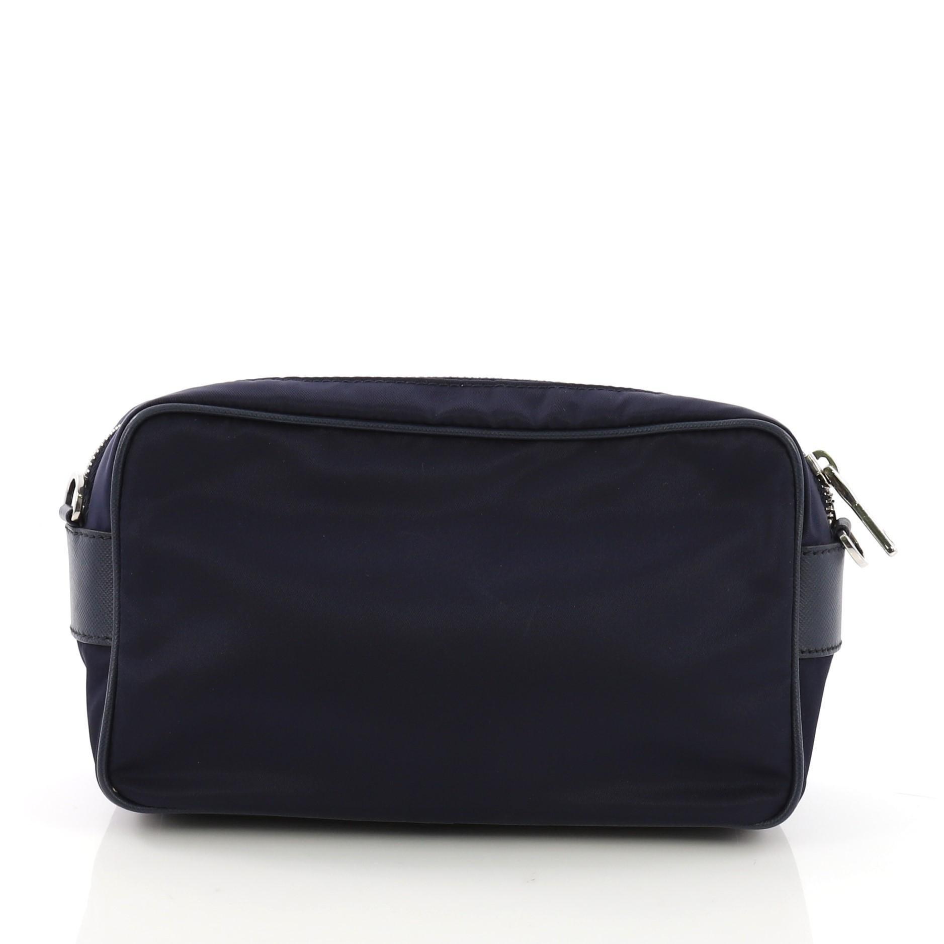 7546b5dffda1 Prada Front Pocket Crossbody Bag Tessuto Small at 1stdibs