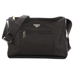 Prada Front Pocket Messenger Bag Tessuto Large