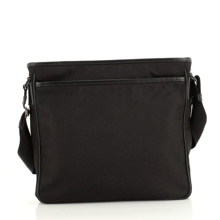 Women's or Men's Prada Front Pocket Messenger Bag Tessuto Medium For Sale