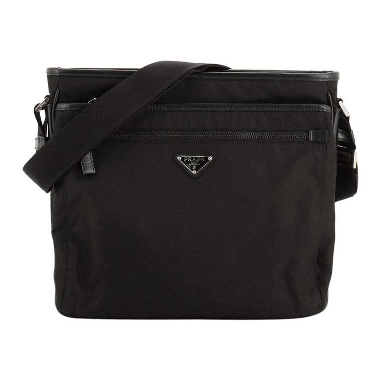 Prada Front Pocket Messenger Bag Tessuto Medium For Sale