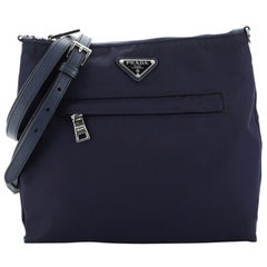 Prada Front Pocket Messenger Bag Tessuto Medium