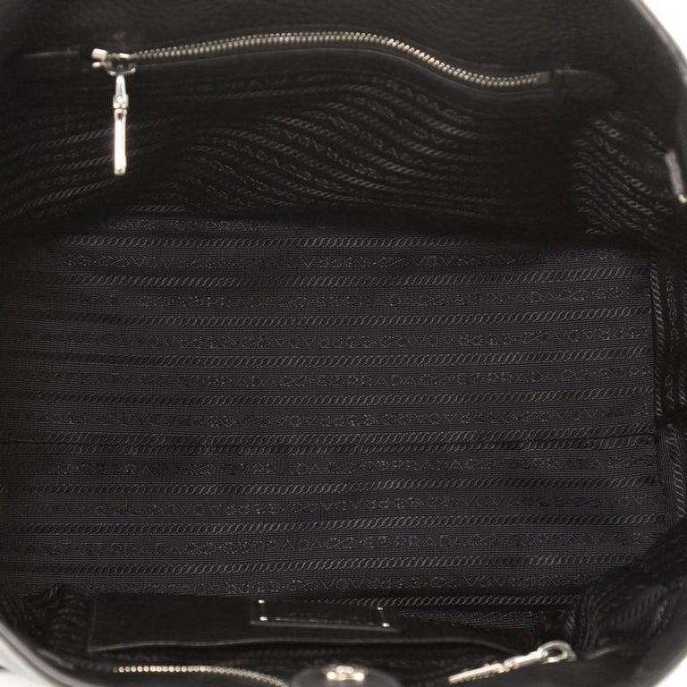 Prada Front Pocket Wing Convertible Tote Vitello Phenix For Sale 2