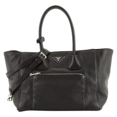 Prada Front Pocket Wing Convertible Tote Vitello Phenix