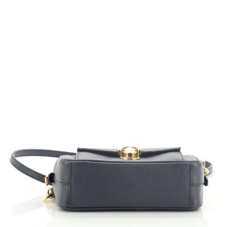 Women's Prada Front Pocket Zip Crossbody Bag Saffiano Leather Mini For Sale