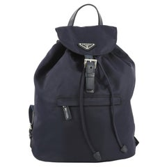 Prada Front Zip Drawstring Backpack Tessuto Large