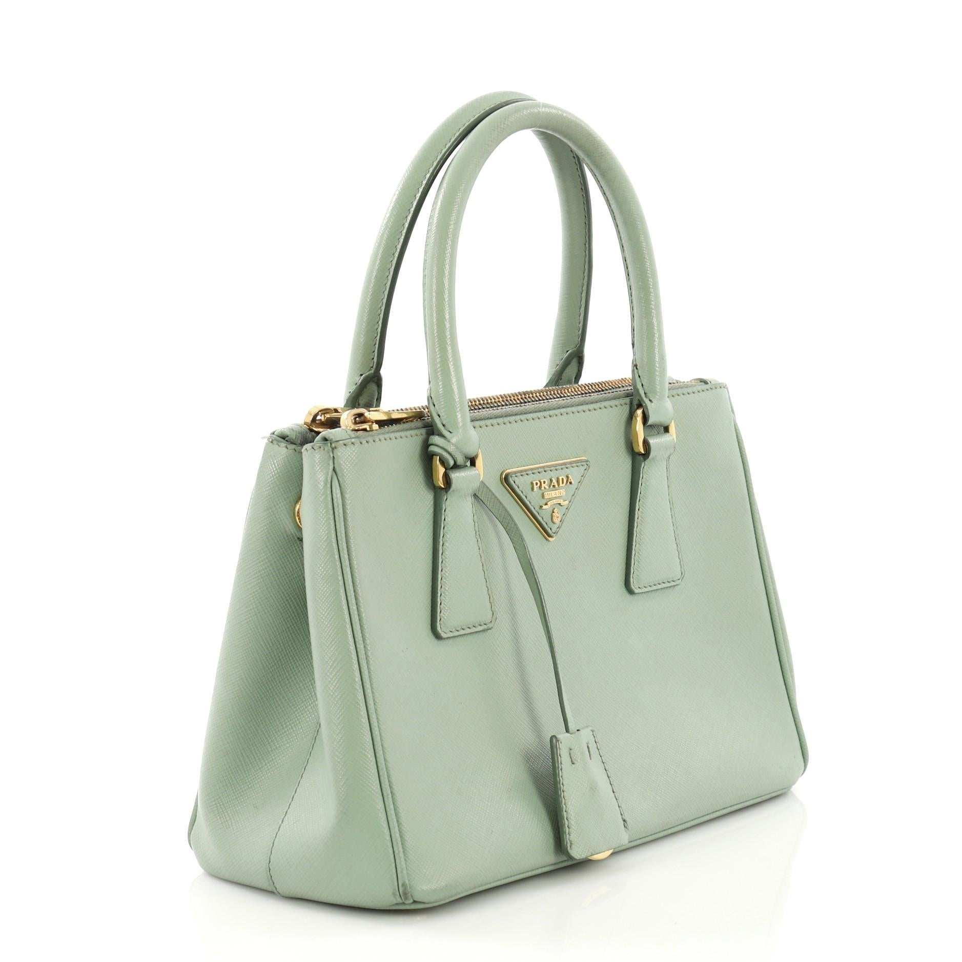 59c8578ef3ff Prada Galleria Double Zip Tote Saffiano Leather Small For Sale at 1stdibs
