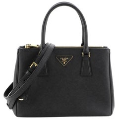 Prada Galleria Double Zip Tote Saffiano Leather Small