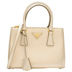 Prada Galleria Mini Saffiano Gold Tone Leather Bag - New Season mini