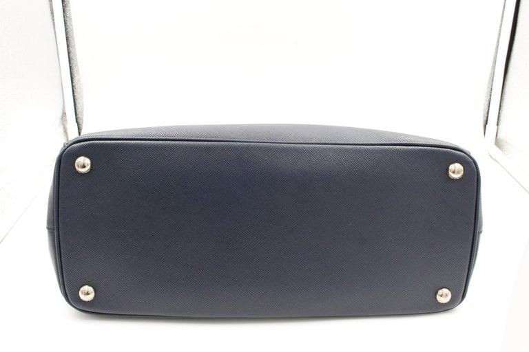 Prada Galleria Saffiano Leather Bag 1BA274 Navy Blue For Sale 5