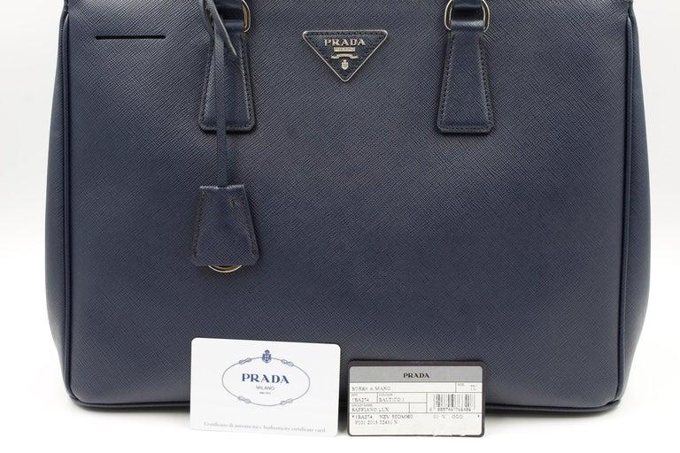 Women's Prada Galleria Saffiano Leather Bag 1BA274 Navy Blue For Sale