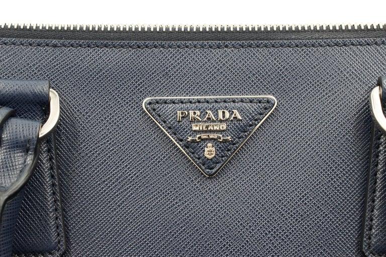 Prada Galleria Saffiano Leather Bag 1BA274 Navy Blue For Sale 1