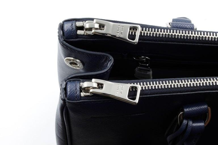 Prada Galleria Saffiano Leather Bag 1BA274 Navy Blue For Sale 2