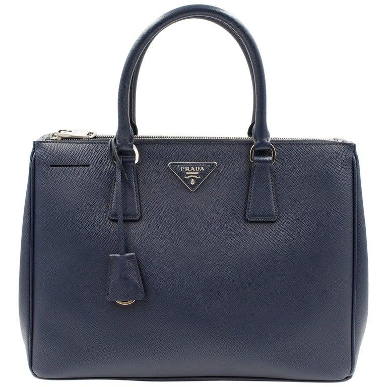 Prada Galleria Saffiano Leather Bag 1BA274 Navy Blue For Sale