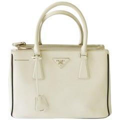 a39e6cab12bf Prada Galleria Saffiano Small Leather Bag in White (Talco) 1BA863 F0N13