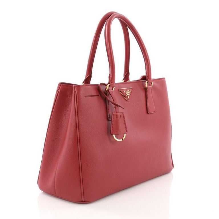 9a6edb1e9054 Brown Prada Gardener's Tote Saffiano Leather Medium For Sale