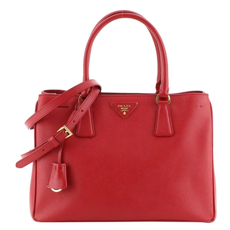 Prada Gardener's Tote Saffiano Leather Medium For Sale