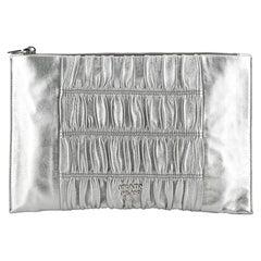 Prada Gaufre Clutch Leather