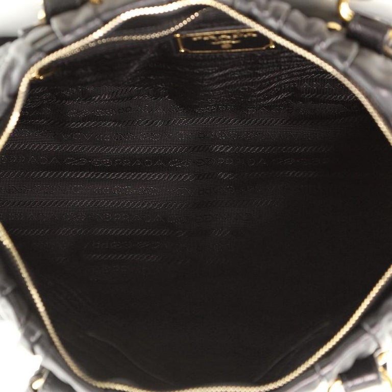 Prada Gaufre Convertible Bowler Nappa Leather Medium For Sale 1