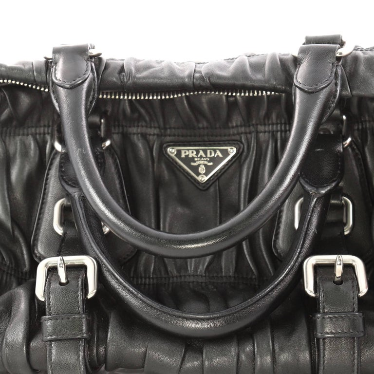 4044791f1b1f Prada Gaufre Convertible Satchel Nappa Leather Large For Sale 2
