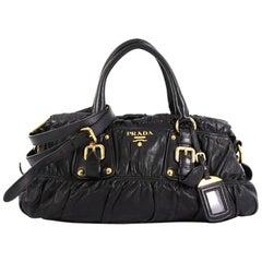 Prada Gaufre Convertible Satchel Nappa Leather Medium
