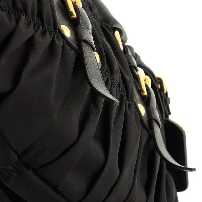 Prada Gaufre Convertible Satchel Tessuto Medium  For Sale 2