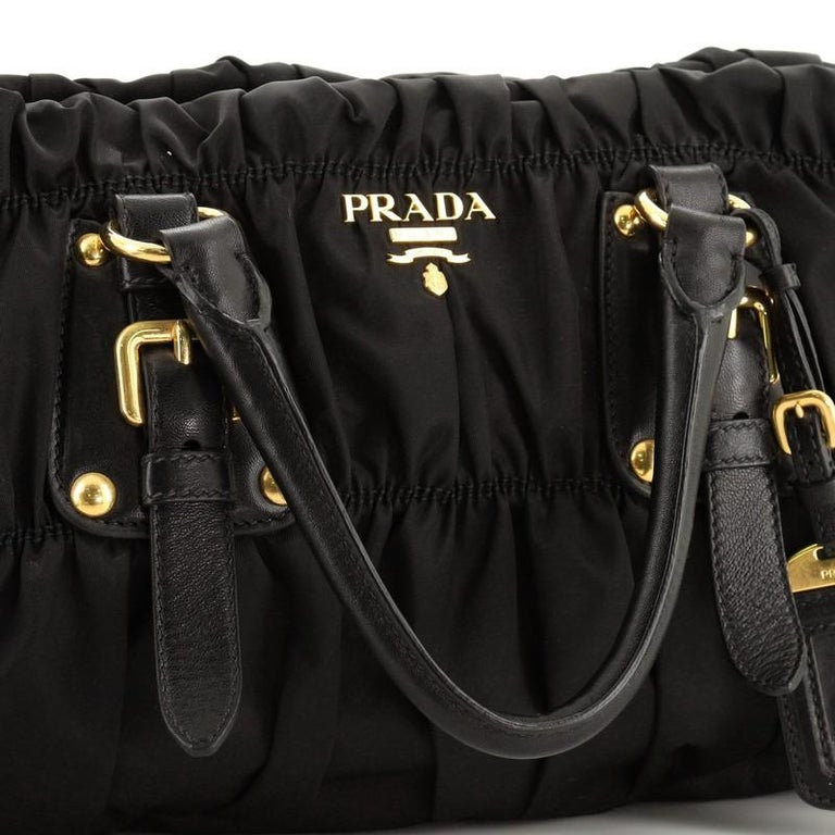 Prada Gaufre Convertible Satchel Tessuto Medium  For Sale 3
