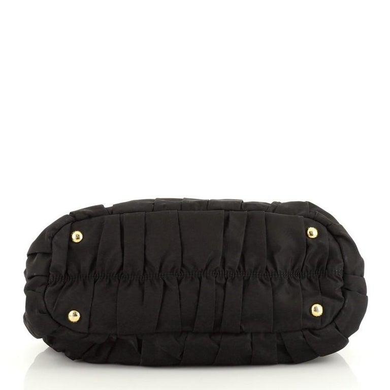 Women's or Men's Prada Gaufre Convertible Satchel Tessuto with Leather Medium