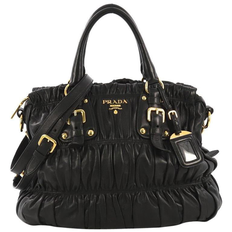 e9cb6170c7ed Prada Gaufre Convertible Tote Nappa Leather Medium For Sale at 1stdibs