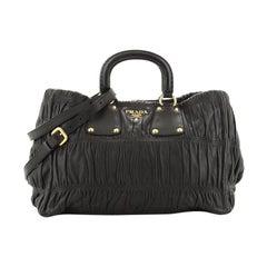 Prada Gaufre Convertible Tote Nappa Leather Medium