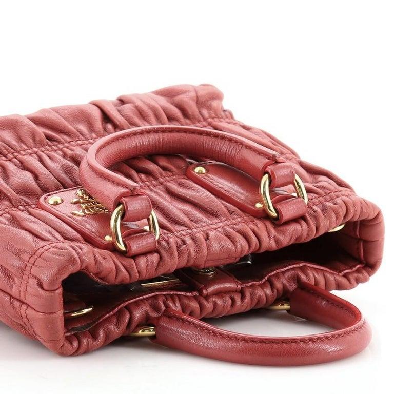Prada Gaufre Convertible Tote Nappa Leather Mini 2