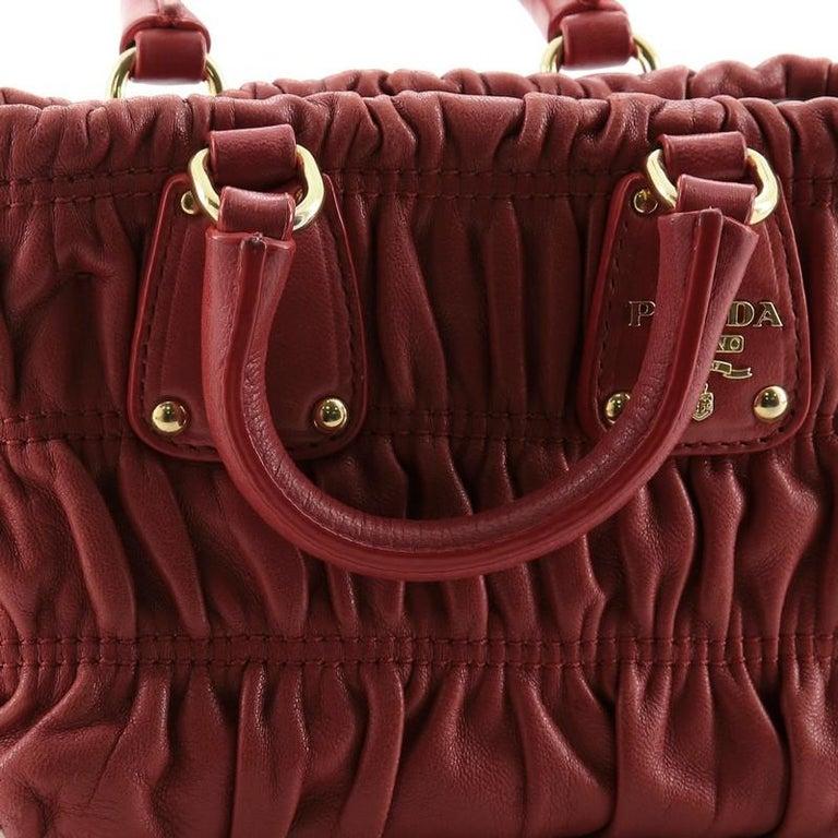 Prada Gaufre Convertible Tote Nappa Leather Mini 3