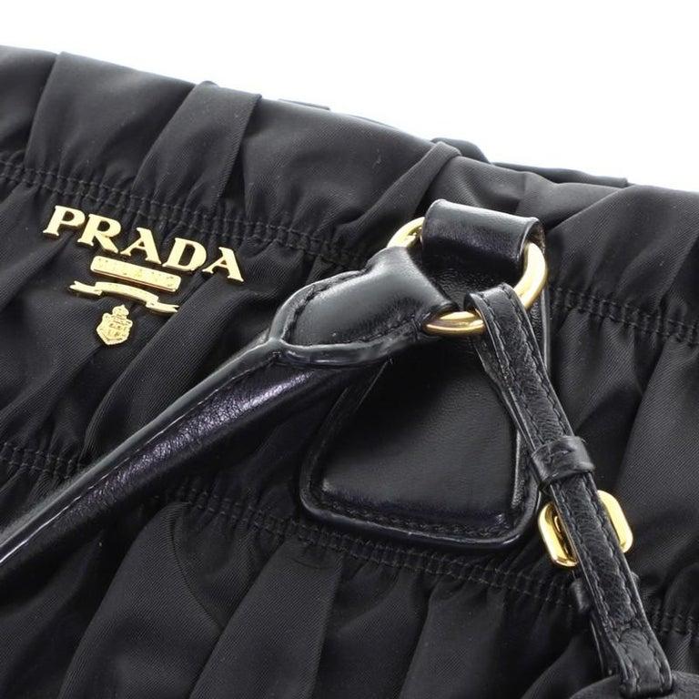 Prada Gaufre Convertible Tote Tessuto Medium For Sale 2