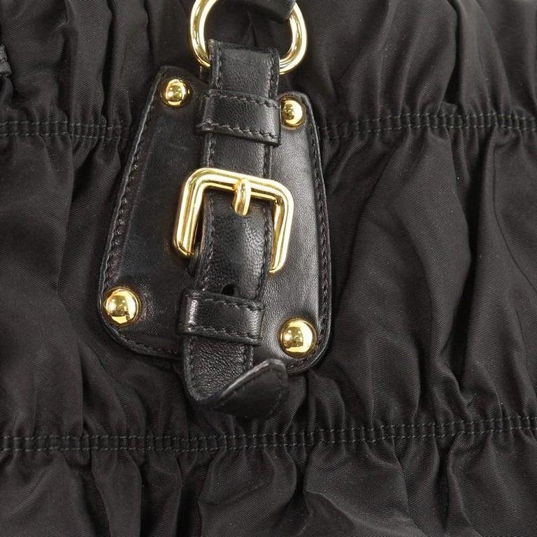 Prada Gaufre Convertible Tote Tessuto Medium For Sale 3