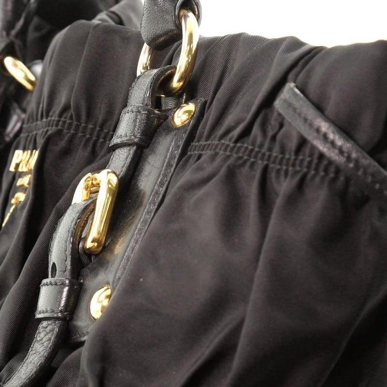 Prada Gaufre Convertible Tote Tessuto Medium For Sale 4