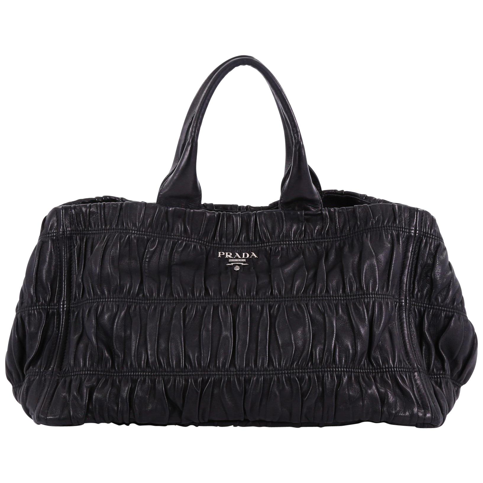 1147b9bc65ae Prada Gaufre Shopping Tote Nappa Leather Large at 1stdibs