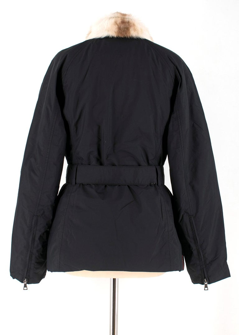 Prada Gore-Tex Fur detailed Jacket XS In Excellent Condition For Sale In London, GB