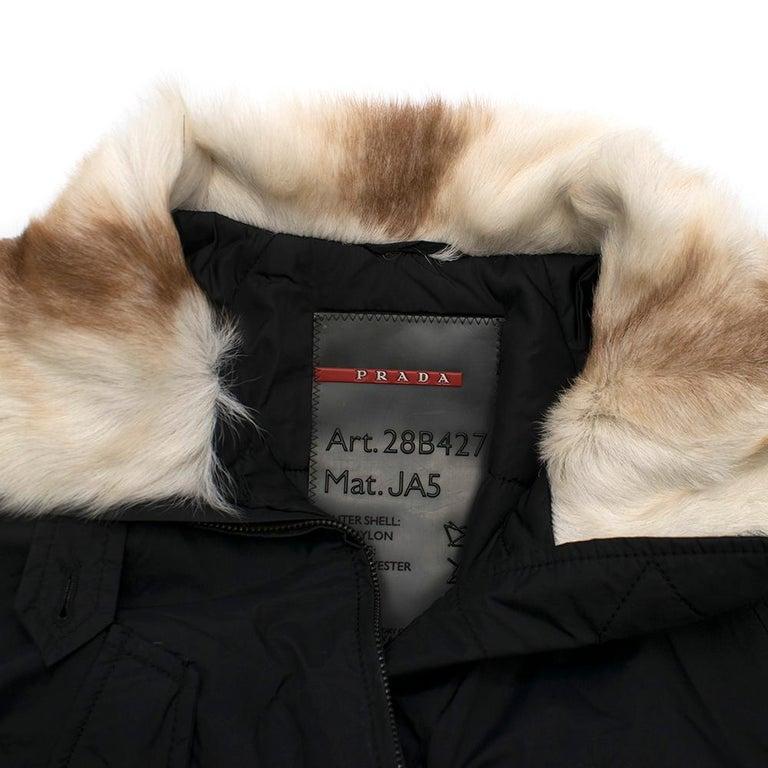 Women's Prada Gore-Tex Fur detailed Jacket XS For Sale