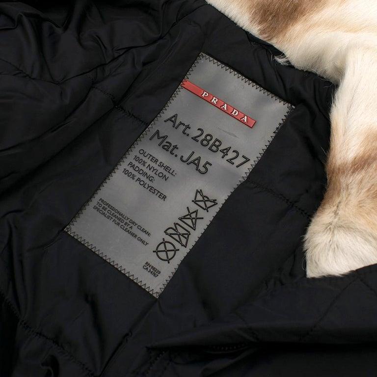 Prada Gore-Tex Fur detailed Jacket XS For Sale 1