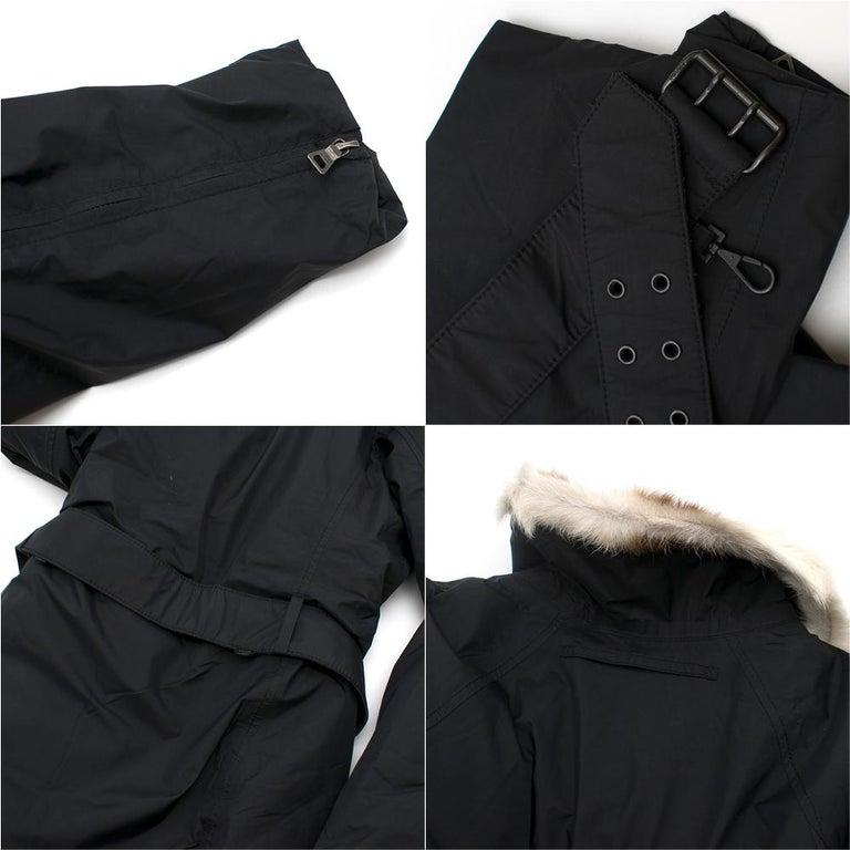 Prada Gore-Tex Fur detailed Jacket XS For Sale 2