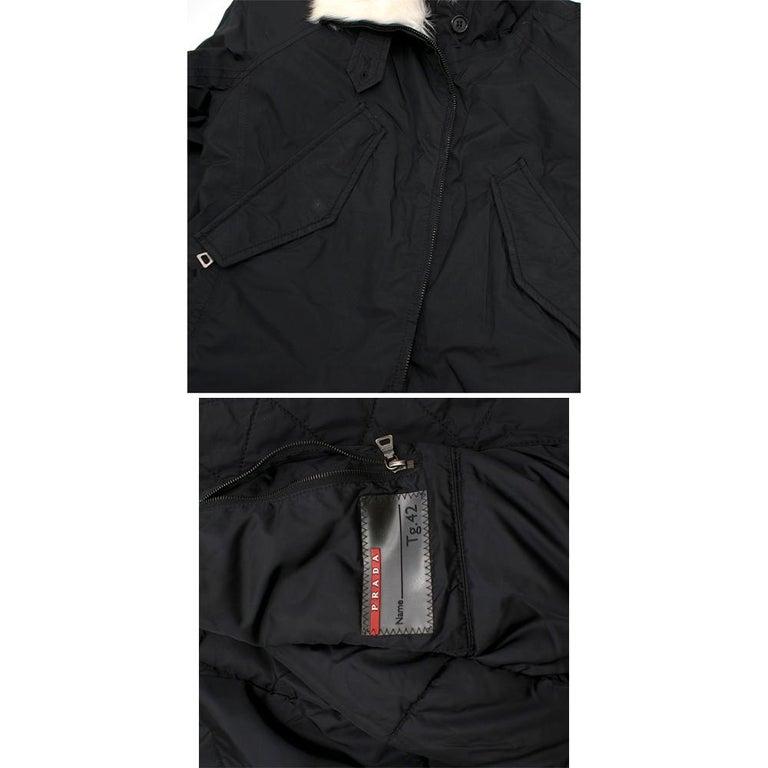 Prada Gore-Tex Fur detailed Jacket XS For Sale 3