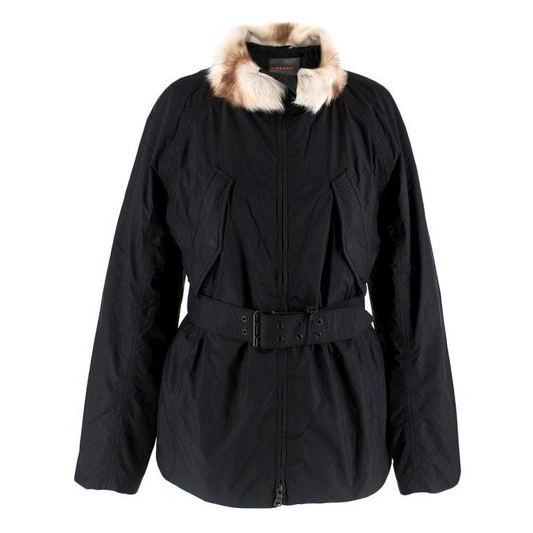 Prada Gore-Tex Fur detailed Jacket XS For Sale