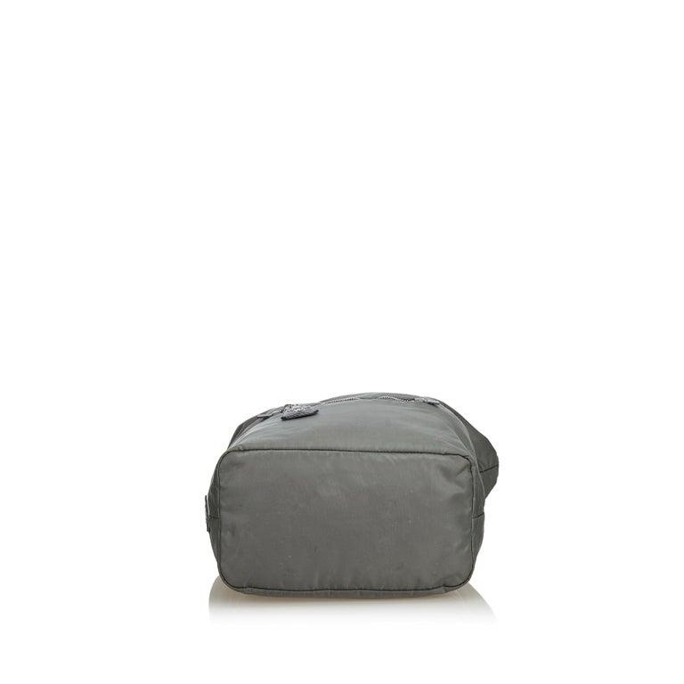 Women's Prada Gray Nylon Satchel For Sale