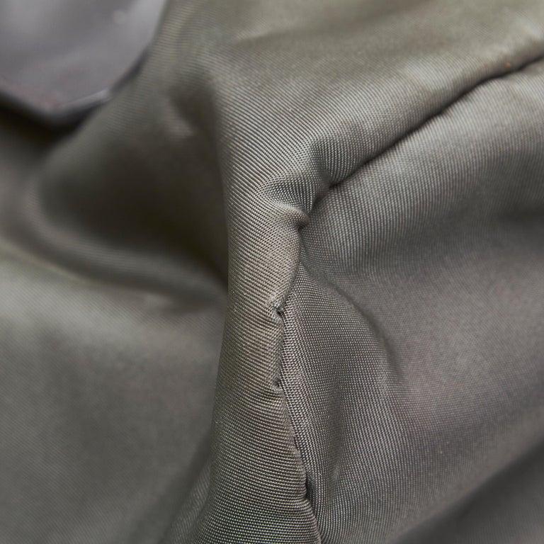 Prada Gray Nylon Satchel For Sale 4