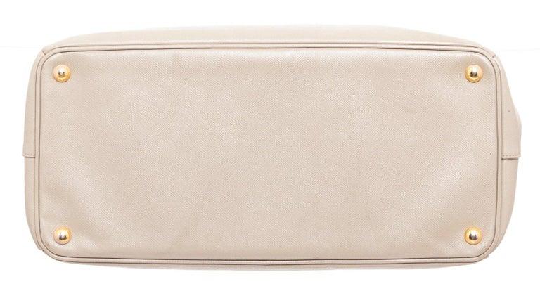 Prada Gray Saffiano Leather Tote Bag For Sale 1
