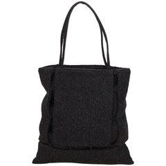 Prada Gray Wool Tote Bag