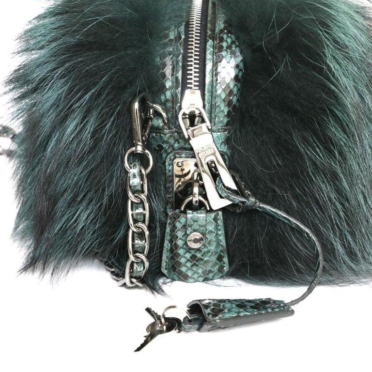 Prada Green Bag In Fox And Lizard For Sale 2