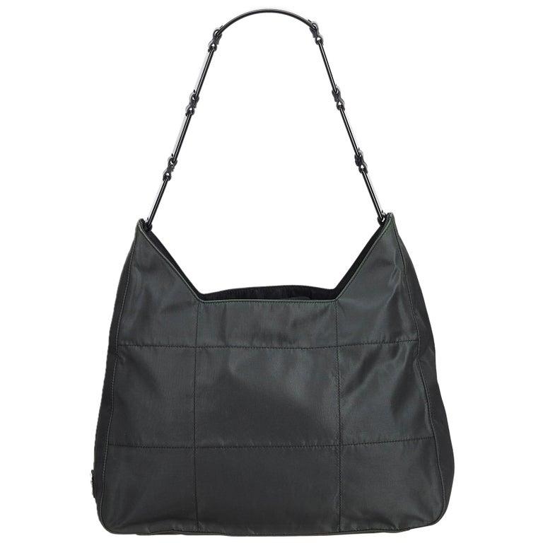 d57efc86908f01 Prada Green Dark Green Nylon Fabric Shoulder Bag Italy at 1stdibs